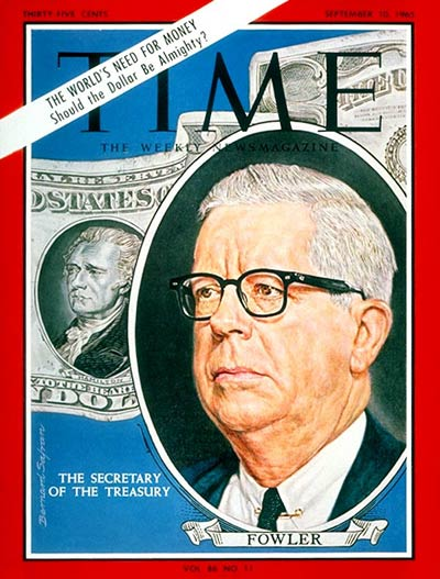 TIME Magazine Cover: Henry H. Fowler -- Sep. 10, 1965