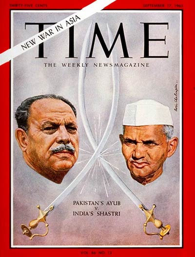 TIME Magazine Cover: Ayub Khan, Lal Bahadur Shastri -- Sep. 17, 1965