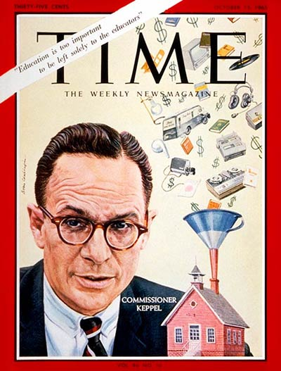 time magazine cover francis keppel oct 15 1965