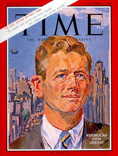 TIME Magazine Cover: John V. Lindsay -- Nov. 12, 1965