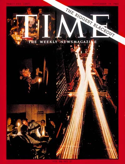 TIME Magazine Cover: The Biggest Blackout -- Nov. 19, 1965