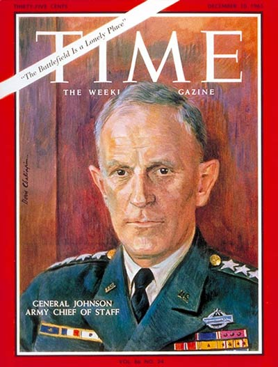 TIME Magazine Cover: General Harold K. Johnson -- Dec. 10, 1965