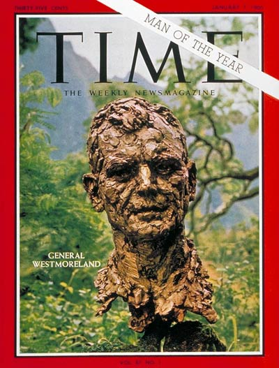 TIME Magazine Cover: General Westmoreland, Man of the Year -- Jan. 7, 1966
