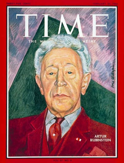 TIME Magazine Cover: Artur Rubinstein -- Feb. 25, 1966