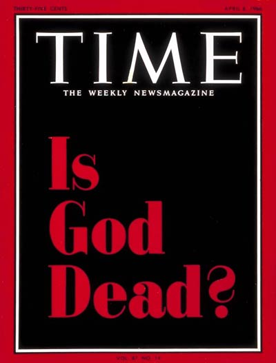 TIME Magazine Cover: Is God Dead? -- Apr. 8, 1966