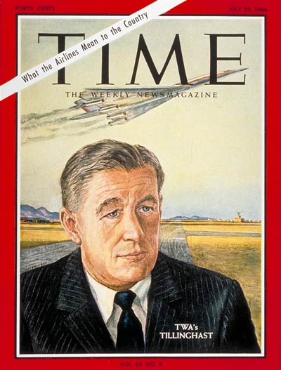 TIME Magazine Cover: Charles Tillinghast Jr. -- July 22, 1966