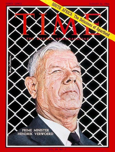 South African PM Hendrik Verwoerd.