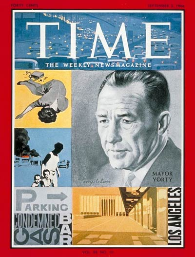TIME Magazine Cover: Mayor Sam Yorty -- Sep. 2, 1966