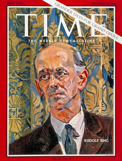 TIME Magazine Cover: Rudolf Bing -- Sep. 23, 1966