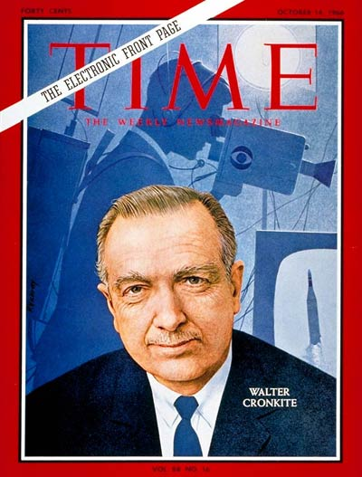 TIME Magazine Cover: Walter Cronkite -- Oct. 14, 1966