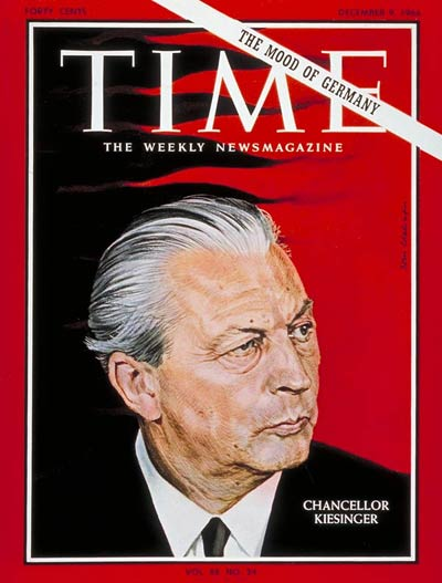 TIME Magazine Cover: Kurt Georg Kiesinger -- Dec. 9, 1966