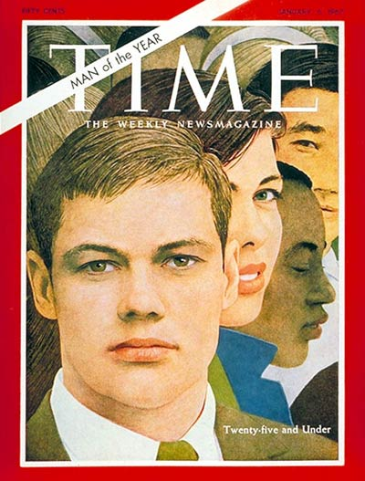 TIME Magazine Cover: Twenty-Five and Under, Man of the Year -- Jan. 6, 1967