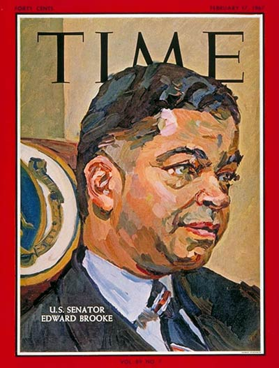 TIME Magazine Cover: Sen. Edward Brooke -- Feb. 17, 1967