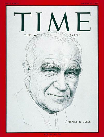 TIME magazine co-founder Henry R. Luce.
