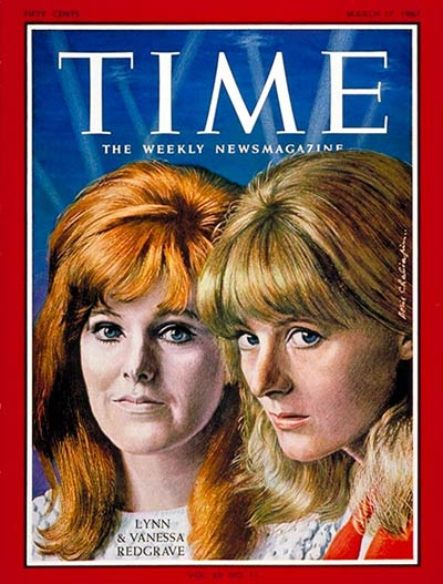 TIME Magazine Cover: Lynn and Vanessa Redgrave -- Mar. 17, 1967
