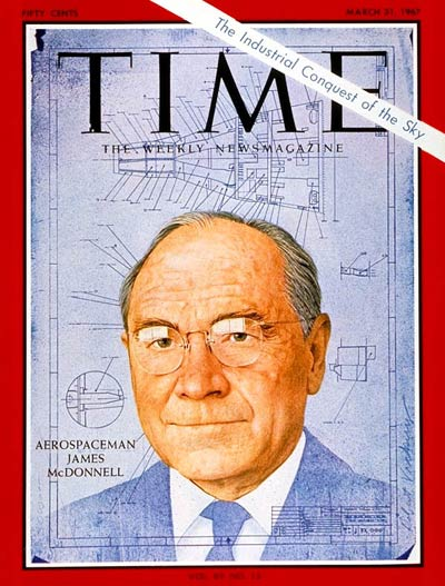 TIME Magazine Cover: James S. McDonnell -- Mar. 31, 1967