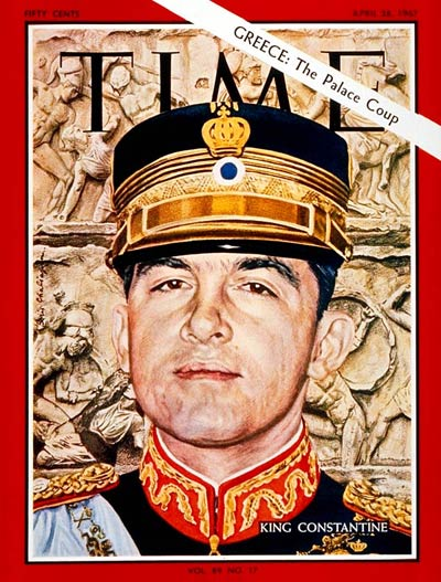 TIME Magazine Cover: King Constantine -- Apr. 28, 1967
