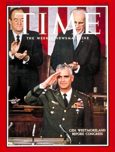 TIME Magazine Cover: General Westmoreland -- May 5, 1967