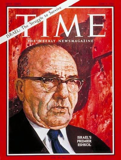 TIME Magazine Cover: Levi Eshkol -- June 9, 1967