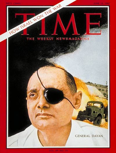 Israeli Gen. Moshe Dayan done from a picture taken by the late photojournalist Paul Schutzer.