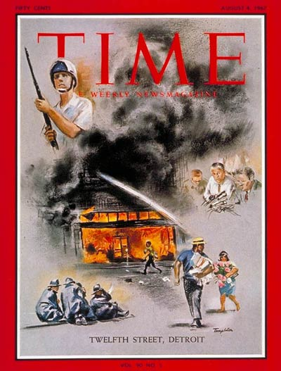 TIME Magazine Cover: Detroit Race Riots -- Aug. 4, 1967