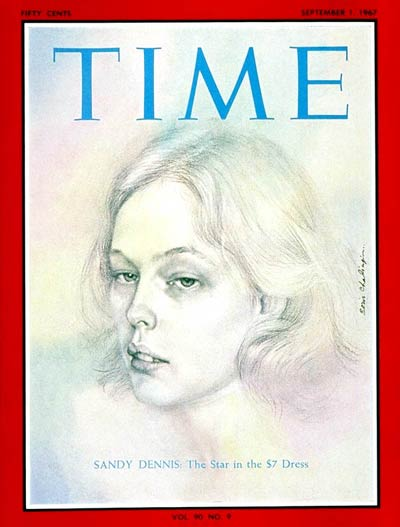 TIME Magazine Cover: Sandy Dennis -- Sep. 1, 1967