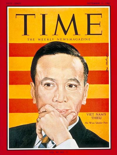 TIME Magazine Cover: Nguyen van Thieu -- Sep. 15, 1967