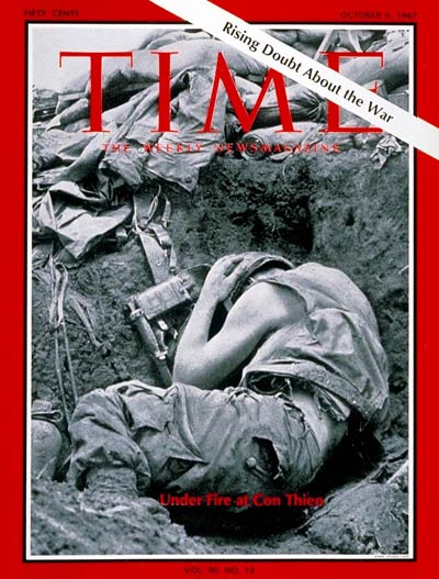 TIME Magazine Cover: Marines at Con Thien -- Oct. 6, 1967