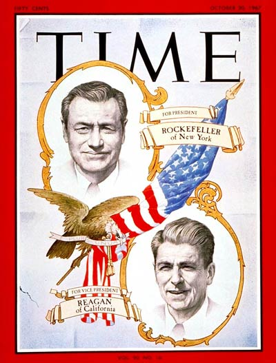 TIME Magazine Cover: Nelson Rockefeller, Ronald Reagan -- Oct. 20, 1967