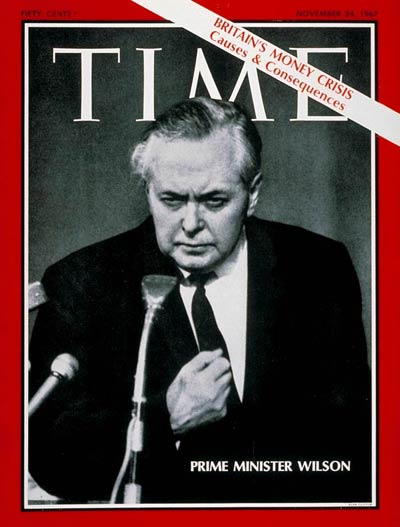 TIME Magazine Cover: Harold Wilson -- Nov. 24, 1967