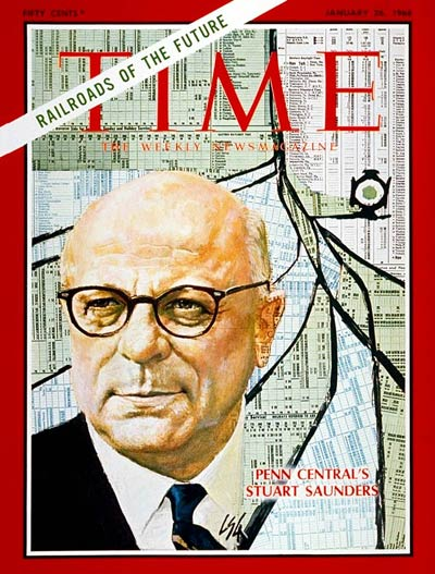 TIME Magazine Cover: Stuart Saunders -- Jan. 26, 1968