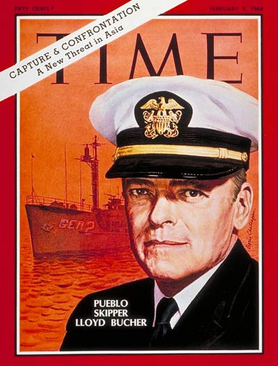 TIME Magazine Cover: Cmdr. Lloyd Bucher -- Feb. 2, 1968