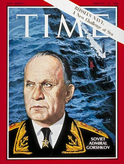 TIME Magazine Cover: Adm. Sergei Gorshkov -- Feb. 23, 1968