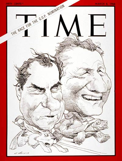 TIME Magazine Cover: Richard Nixon, Nelson Rockefeller -- Mar. 8, 1968