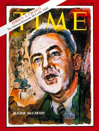 TIME Magazine Cover: Sen. Eugene McCarthy -- Mar. 22, 1968
