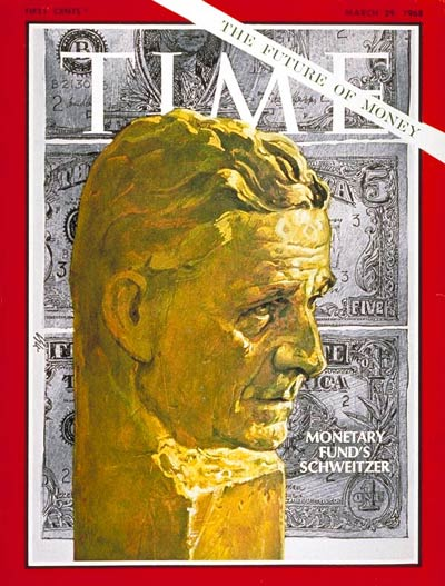 TIME Magazine Cover: Pierre-Paul Schweitzer -- Mar. 29, 1968