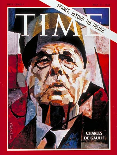 TIME Magazine Cover: Charles DeGaulle -- May 31, 1968