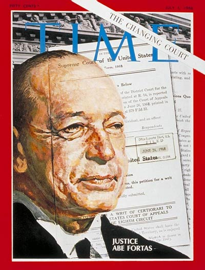 TIME Magazine Cover: Abe Fortas -- July 5, 1968