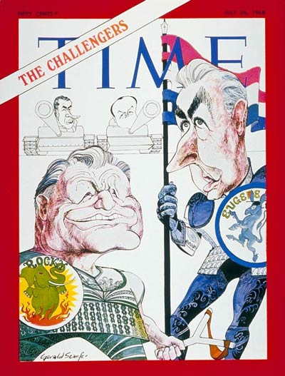 TIME Magazine Cover: Nelson Rockefeller, Eugene McCarthy -- July 26, 1968