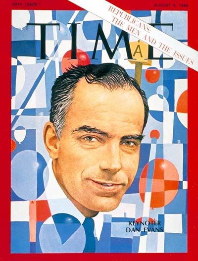 TIME Magazine Cover: Gov. Daniel J. Evans -- Aug. 9, 1968