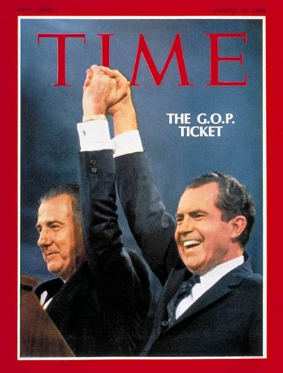 TIME Magazine Cover: Spiro Agnew, Richard Nixon -- Aug. 16, 1968