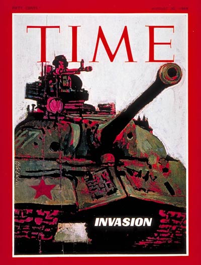 TIME Magazine Cover: Russian Invasion of Czechoslovakia -- Aug. 30, 1968