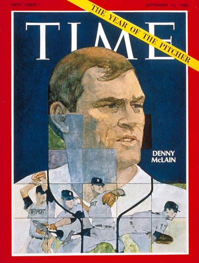 Detroit Tiger pitcher Denny McLain