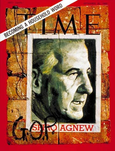 TIME Magazine Cover: Spiro Agnew -- Sep. 20, 1968