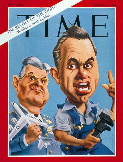 TIME Magazine Cover: Curtis LeMay, George Wallace -- Oct. 18, 1968