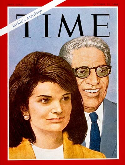 TIME Magazine Cover: Aristotle & Jackie Kennedy Onassis -- Oct. 25, 1968