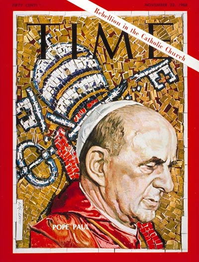 TIME Magazine Cover: Pope Paul VI -- Nov. 22, 1968