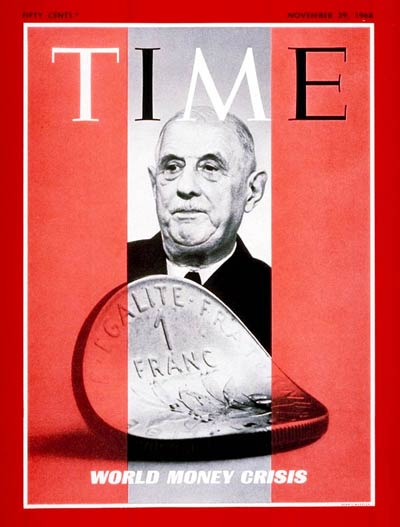 TIME Magazine Cover: Charles DeGaulle -- Nov. 29, 1968