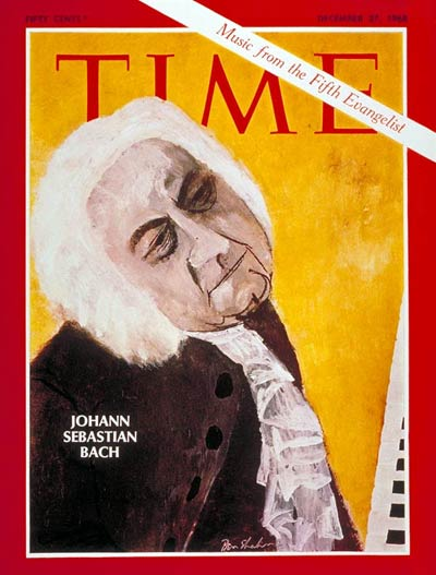 TIME Magazine Cover: Johann Sebastian Bach -- Dec. 27, 1968