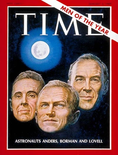 Apollo 8 astronauts, William A. Anders, Frank Borman and Jim Lovell